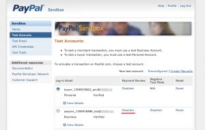 PayPalテストアカウント