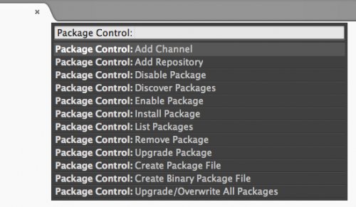 sublime text2 Package Control